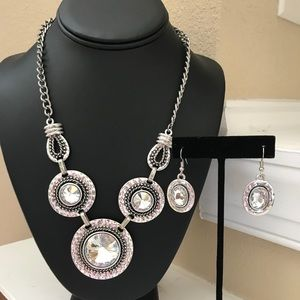 New York & Company Silver Necklace & Earring Set!